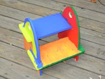 I Made That Sir Steps-A-Lot Stool - multicolored